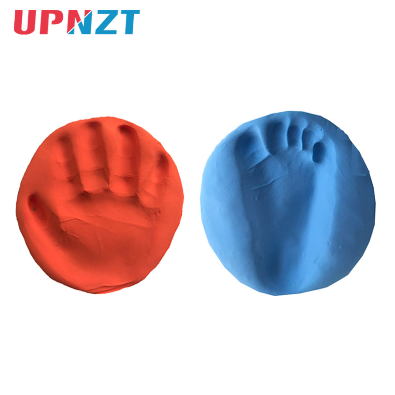 Baby Hand Foot Inkpad Air Drying Soft Clay Baby Handprint Footprint Imprint Kit Casting Parent-child Hand Inkpad DIY Toys 30g