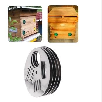 10x Bee Box Door Cage Stainless Steel  Hole Beekeeping Nest Equipment Bee Hive Entrance [haotian vegetarian] antique door entrance door of the box corners accessories layering corner htg 091 bat yoshihisa