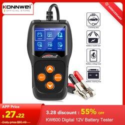 Тестер аккумуляторов авто KONNWEI KW600, тестер автомобильных аккумуляторов от 100 до 2000CCA 12 вольт, аккумуляторные инструменты для автомобиля, быст...