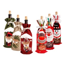 2019 Xmas Wine Cover Santa Claus Merry Christmas Decor for Home Christmas Table Decor Noel Natal Cristmas Happy New Year 2020 стоимость