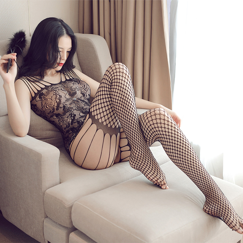 Cosplay Erotic Costumes Womens Fishnet Body Stocking Costumes Teddies Crotchless Underwear For <font><b>Sex</b></font> Tights <font><b>Adult</b></font> Lace <font><b>Dress</b></font> image