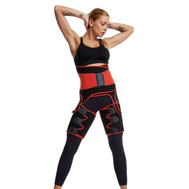 3 in 1 Adjustable Waist Bandage Sweat Body Shapers One-piece Hip Belt Arm Sweat Belt Buttocks Trainer Slimming Shaper Belt 1