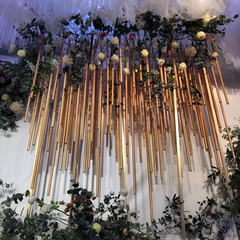 Creative PVC Aluminum Plastic Tube Wedding Arch Background Decoration Making Giant Artificial Flower Pole Stage Center Loading