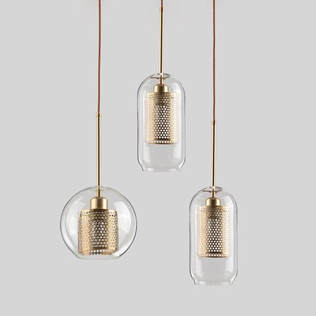 Lamp Glass Bulb Pendant Light Master Bedroom Luminaria De Teto Pendente Vintage Art Deco Vintage Industrial Pendant Nordic Loft