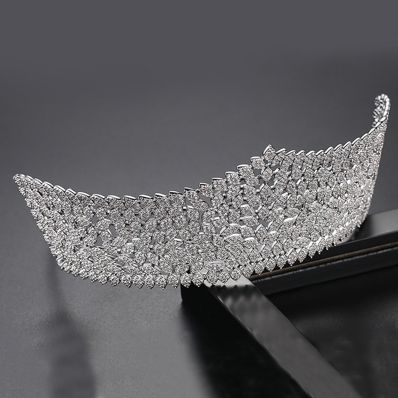 Asnora, новинка, корона, тиара, диадема, роскошные свадебные аксессуары для волос, удлиненные аксессуары для волос A00616 - 3