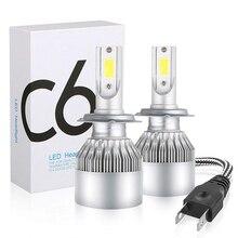 2 PCS 72W 7800LM 6500K COB H4 H1 H3 C6 LED Car Headlight H7 H8 H11 9005 HB3 9006 HB4 9007 9004 H13 Led Fog Light Bulb 6500K