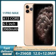 هواتف ابل الاصلي غير مقفلة ايفون 11 برو ماكس 6.5 بوصة 4 + 64/256GB 4G LTE نظام تحديد المواقع وnfc 12 + 12 ميجابكسل 1SIM بطاقة الهواتف الذكية A13