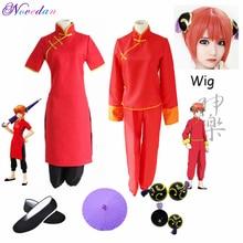 Kungfu-Wear Outfits Cosplay-Costume Chinese-Dress Soul Kagura Gintama/silver Cheongsam