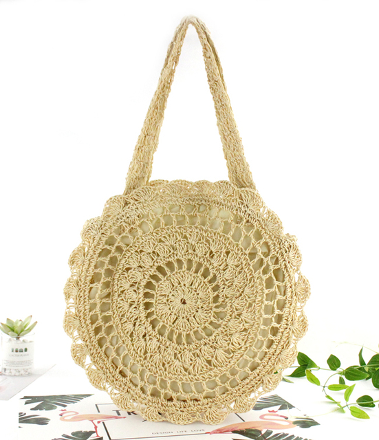 Bohemian Straw Bags Circle...