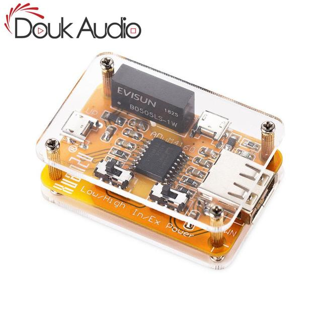Douk Audio ADuM4160 módulo aislador USB a USB, eliminador de ruidos de Audio, protección de aislador Industrial, módulo Digital de 1500V