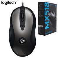 Original Logitech MX518 LEGENDARY Classic Wired Gaming Mouse 16000DPI HERO Programming Mouse Reborn For Fever Level Mouse Gamer