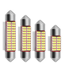 31mm 36mm 39mm 42mm C5W C10W 4014 SMD LED CANBUS NO ERROR Auto Festoon Lamp Interior Dome Lights Car Map Roof Reading Bulb White(China)