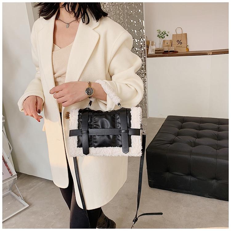 Fashion Plush Tote Women's Handbag