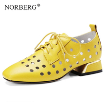 NORBERG fashionwoman shoes low heel hollow sandals summer autumn cut wedding women sexy party entity ladies high heels