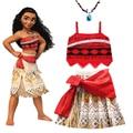 2020 mädchen Moana Cosplay Kostüm für Kinder Vaiana Prinzessin Kleid Kleidung für Halloween Kostüme für mädchen baby Mädchen party kleider