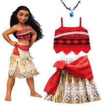 2020 niñas disfraz Cosplay Moana para niños Vaiana la princesa vestido de ropa para disfraces de Halloween para niñas bebé niña vestidos de fiesta