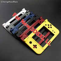 ChengHaoRan-pieza de bisagra de repuesto, base negra, carcasa C, carcasa del marco medio para Nintendo 3DS XL New LL