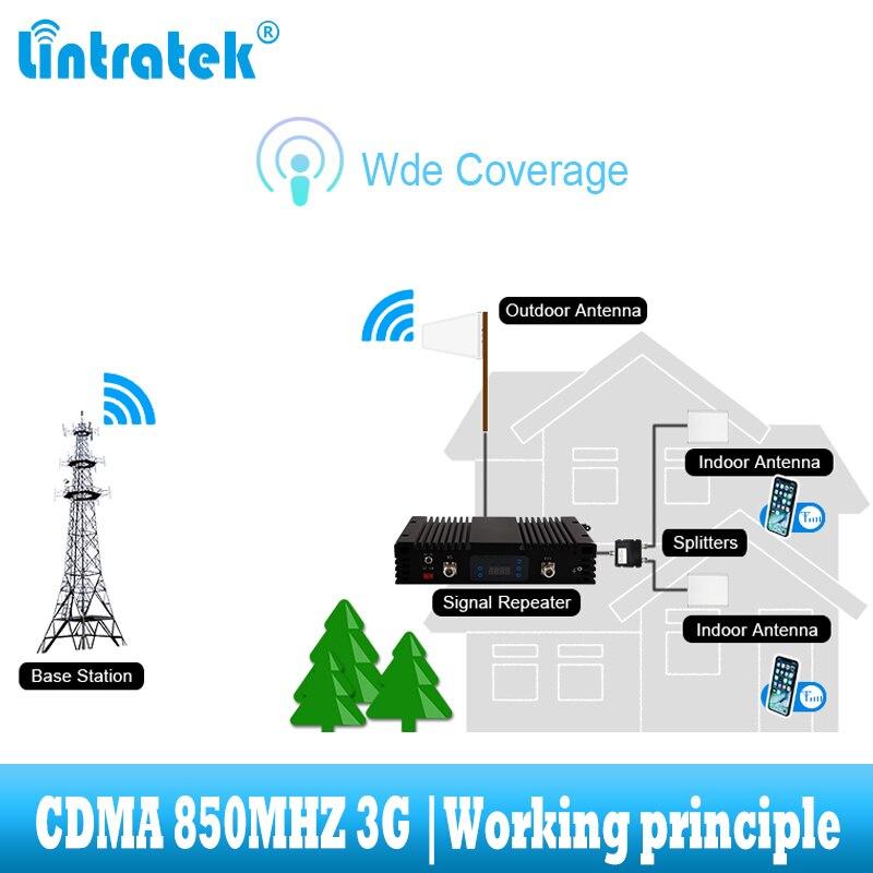 lintratek Supper Power CDMA 3G UMTS 850 mhz Signal Booster GSM 850mhz - Reservdelar och tillbehör för mobiltelefoner - Foto 2