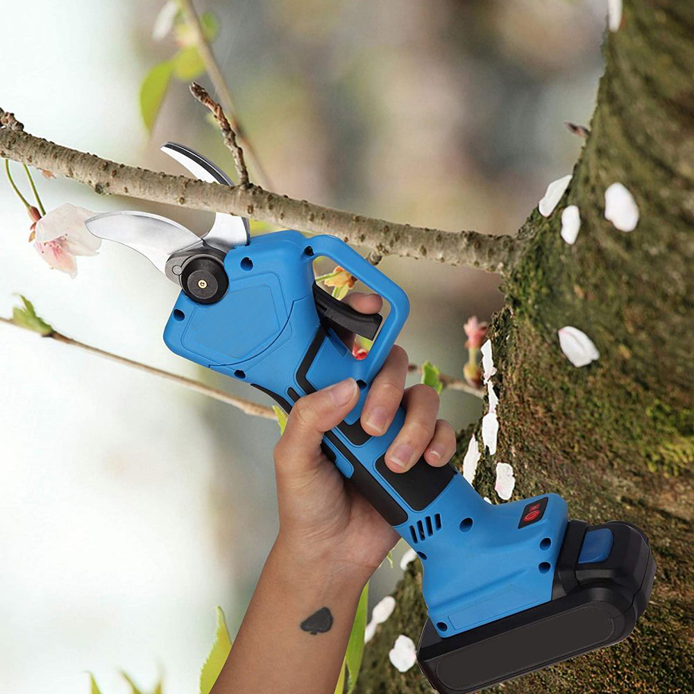 Wireless Garden Lithium Pruning Pruning Shears Machine Tool 21V Rechargeable Battery Electric Electric 2AH Pruning Machine