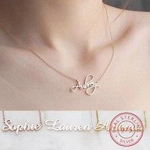 DODOAI – collier ras du cou en argent Sterling 925 avec nom pour femmes et filles, bijoux personnalisés avec lettres