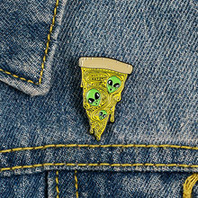 Cartoon Badge Punk Alien Viso Pizza Spille per Le Donne Cucina Creativa Dello Smalto Spille Gioielli Giacca di Jeans Zaino Accessori(China)