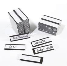 """3X1 """"Set von 30 oder 50 Magnetische Label Halter, Zeichen und Ticket Halter, halter für Metall Regal Label Organisation, Lager"""