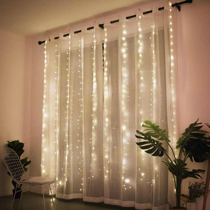 3M LED Curtain Lamp Warm White Multi color String Lights Remote Control USB  fairy light garland Bedroom Home decorative lighting LED String  -  AliExpress