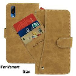 На Алиэкспресс купить чехол для смартфона leather wallet vsmart star case 5.7дюйм. flip fashion luxury front card slots cases cover business magnetic phone bags