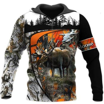 Moose Hunting Camo Full 3D Print - Sweatshirt, Hoodie, Pullover 1
