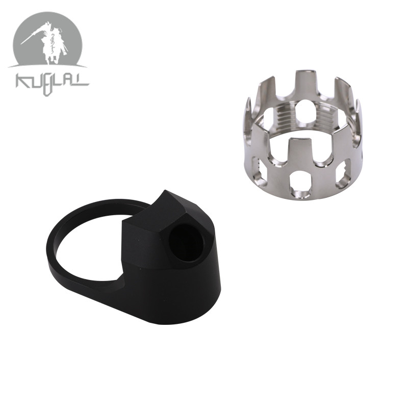 6 Position Stock Pipe AR Enhanced Castle Nut Extended End Plate for Airsoft AEG M4 Series Hunting Accessories image