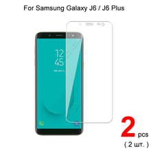 Vidrio templado para Samsung Galaxy J6 2018 / J6 Plus 2018, Protector de pantalla de vidrio Protector para Samsung Galaxy J6 Plus