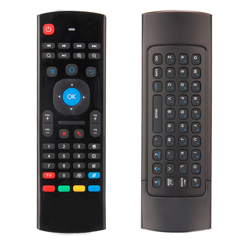 1 Set 2.4G Mini Wireless Remote Control Full Keyboard TV Remote Air Mouse with USB Receiver For Android TV Box Mini PC