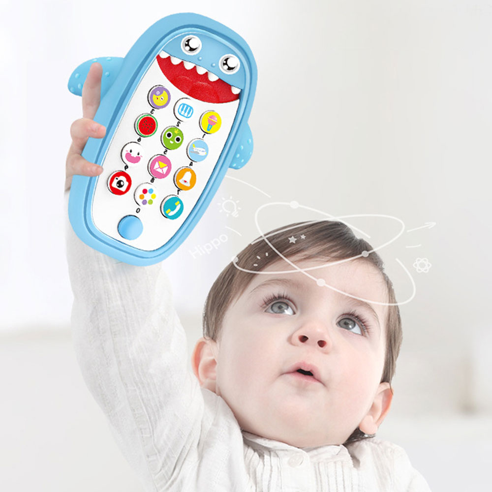 Baby Simulation Intelligent Remote Control Mobile Story Machine Toys Kids Educational Music Learning Phone Toy Christmas Gifts