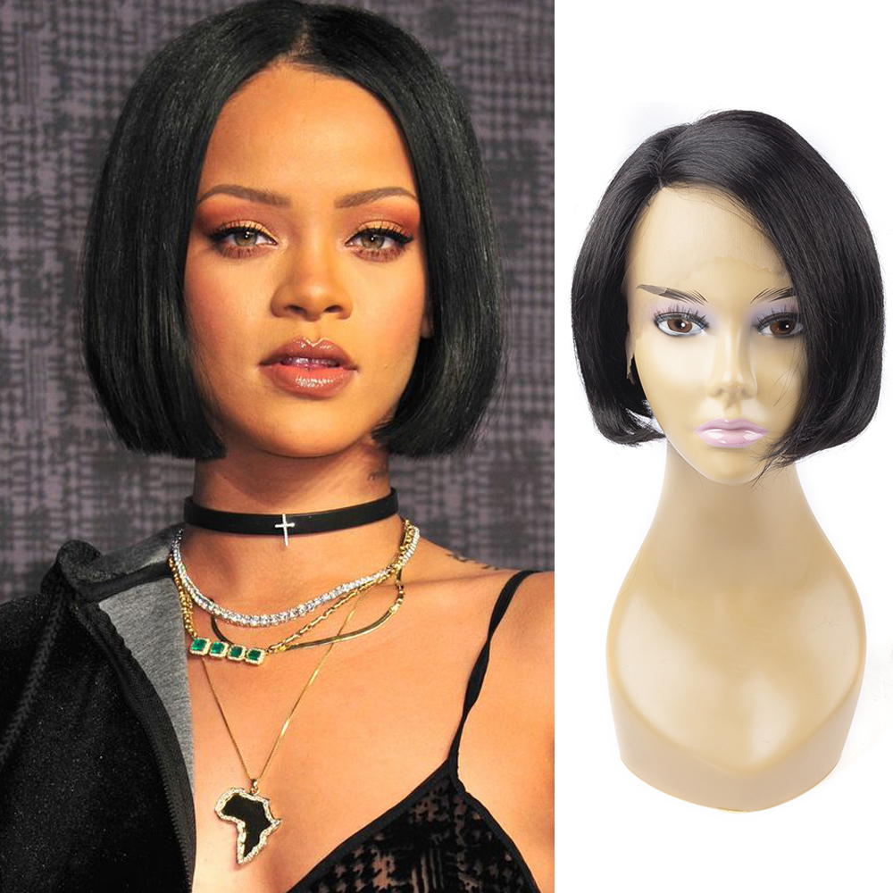 Cheap Wigs Free Shipping Part Lace Front Human Hair Wigs Colored Brazilian Remy Human Hair Short Curly Wig With High Quality