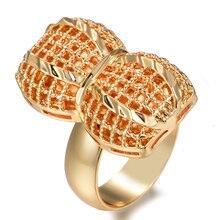 Wando Ethnic Ethiopian peanut Gold Color Wedding Ring for Women Nigerian Somali African Fashion Ring Middle East Jewelry somali piracy