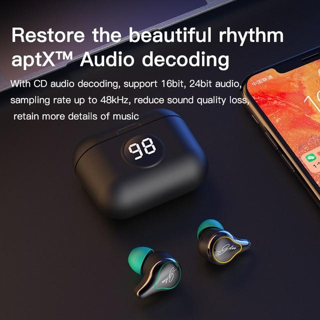 LuckyLZ SE16 s TWS Wireless Bluetooth 5.0 Earphones Touch Control Earphones APTX Headset Noise Cancelling Sport CVC8.0 Earphones