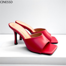 2020 Thin High Heels Concise Pumps Woman Shoes Slip On Summer Fashion Shoes Women Pumps Mules bonjomarisa 2018 kid suede large size 33 40 women shoes woman slip on chunky heels mules pumps woman shoes