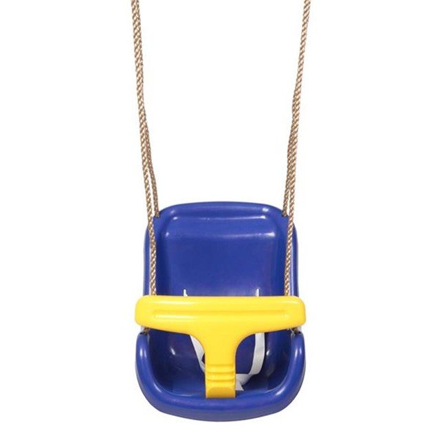 High Back Infant Swing Wide Seat Belt Baby Swing Chair Hanging Children Kindergarten Outside Indoor Small Basket Swinging 1