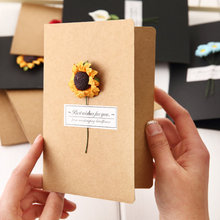 Gift Box Decoration Dried Flowers Cards Invitations Postcards Gift Card Invitations Wedding Invitations Christmas Cards(China)