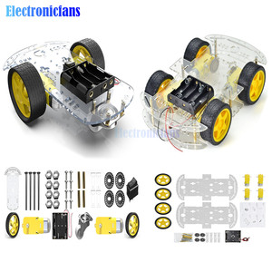 Electronic Smart Robot Car Chassis Kit 2WD/4WD Smart Car Kit Speed Encoder Battery Box Obstacle Avoidance Intelligent Car Diy