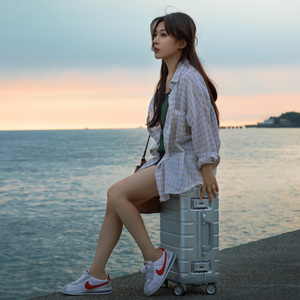 Image 3 - Xiaomi maleta de viaje con ruedas giratorias, equipaje de 20 pulgadas, con correa Y, varilla de tracción, aleación de aluminio Y magnesio de calidad superior