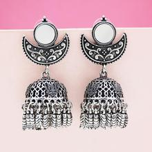Hot Exotic Indian  Birdcage Fringe Earrings Statement Pakistan Classic Ancient Color Metal Bird Drop Ears Gypsy Ethnic Jewelry rendezvous with ancient indian society