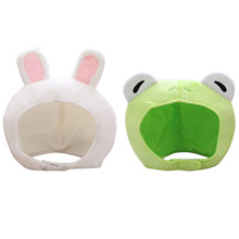 Costume Bunny-Hat Rabbit-Props Plush Headgear Cosplay Frog Cap Cure Animal Party Girl