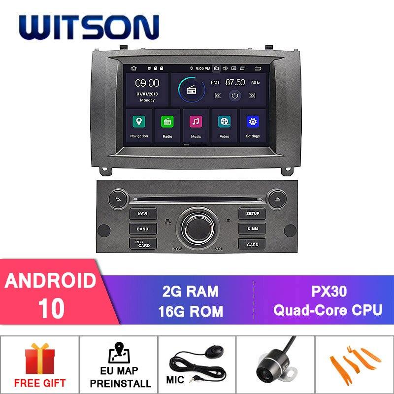 Alemanha Estoque! Witson para 4 + 64gb carro dvd gps para peugeot 407 android 10.0 ips tela de rádio 8 octa núcleo + dvr/wifi dsp + dab obd