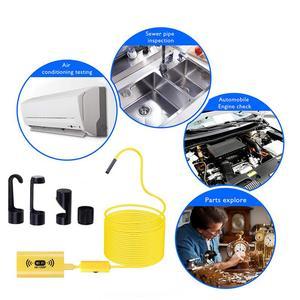 Image 5 - Câmera endoscópica wifi hd 1200p, mini cabo rígido à prova d água, câmera de inspeção de 2.0 megapixels 8mm 6led 12m/endoscópio usb de 3.5m//5m