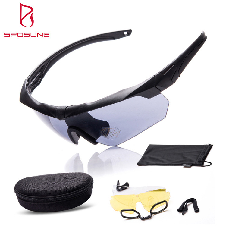 Open Country Glasses Hunting Tactical Glasses Shooting CS Glasses Anti-Impact Crossbow Three PC Set