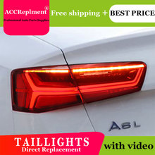 Car Styling LED Tail lights For Audi A6 2012 2016 Taillight LED Running light + Dynamic Turn Signal + Reverse + Brake A Set