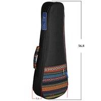 Colorful 21 Soprano Ukelele Ukulele Uke Bag Backpack Case Ethnic National Style Durable Cotton Thicken Padding with Strap
