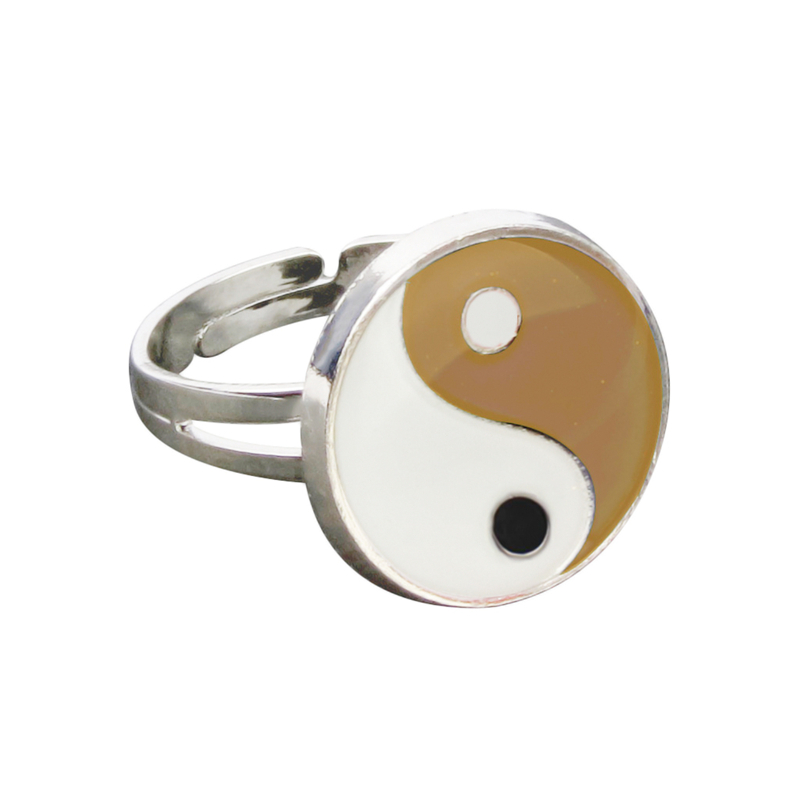 Yinyang Mood Ring Color Change Mood Ring Adjustable Emotion Feeling Changeable Temperature Ring 1PC Dropshipping 2