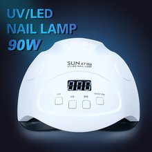 Fashion Female Nail Instrument Lamp Portable Phototherapy Machine 90W High Power Tool